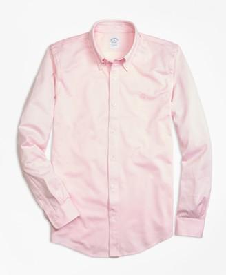 Brooks Brothers Supima Cotton Button-Down Knit Shirt