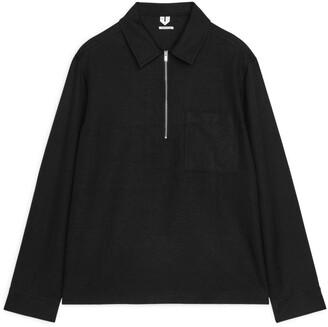 Arket Lyocell-Linen Zip Overshirt