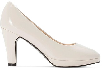 La Redoute Collections Plus Wide Fit Patent High Heels