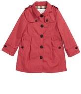 Burberry 'Sophia' Trench Coat (Baby Girls)