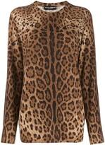 Dolce & Gabbana cashmere animal print sweater