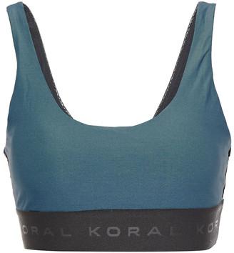 Koral Mesh-paneled Stretch-jersey Sports Bra