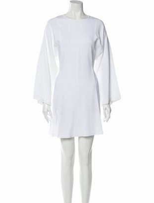 A.L.C. Bateau Neckline Mini Dress w/ Tags White Bateau Neckline Mini Dress w/ Tags