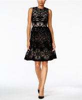 Tommy Hilfiger Velvet Lace Fit & Flare Dress, A Macy's Exclusive Style