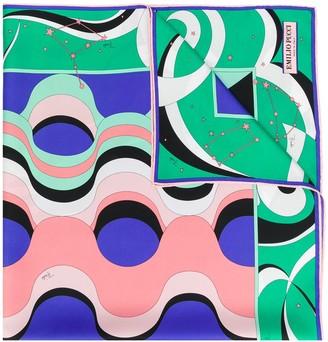 Emilio Pucci Copacabana Print Silk-Twill Square Scarf
