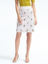 Banana Republic Pineapple Embellished Pencil Skirt