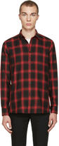 Saint Laurent Black and Red Check Shirt
