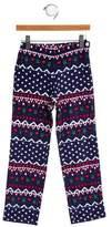 Oscar de la Renta Girls' Printed Corduroy Pants