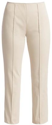 Agnona Stretch Cotton Side Zip Pants