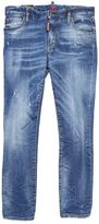 DSQUARED2 Washed Medium Blue Cropped Twiggy Jeans