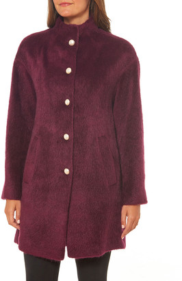 Kate Spade Single-Breasted Faux Fur Coat