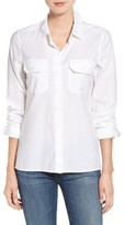 AG Jeans Women's Ace Split Hem Cotton Shirt