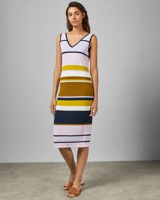 Ted Baker IZLIE Maple Swirl V neck knitted dress