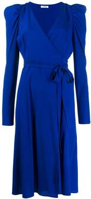 P.A.R.O.S.H. puff-sleeve wrap dress