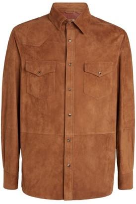 Brunello Cucinelli Suede Shirt Jacket