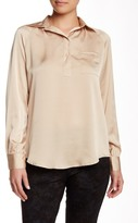 Insight Placket Long Sleeve Blouse