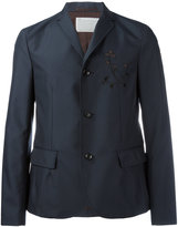 Kolor embroidered flower jacket - men - Nylon/Polyester/Cupro/Wool - 3