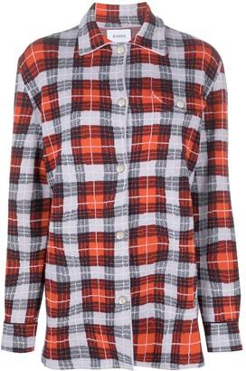Barrie Tartan Jacquard Cashmere Overshirt