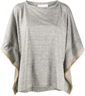 Fabiana Filippi frayed sides T-shirt