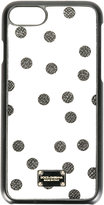 Dolce & Gabbana polka dot print iPhone 7 case - women - Calf Leather - One Size