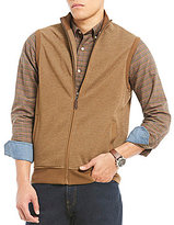 Daniel Cremieux Solid Pique Full-Zip Fleece Vest