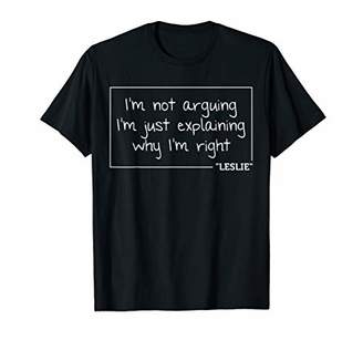IDEA LESLIE Quote Personalized Name Funny Birthday Gift T-Shirt