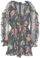 Zimmermann Iris floral print silk tie playsuit