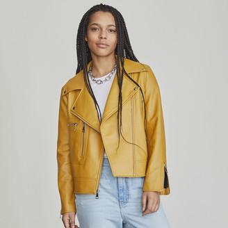 Elizabeth and James Women's Faux-Leather Moto Jacket