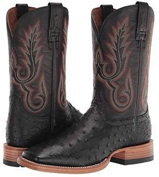 Ariat Barker (Black FQ Ostrich/Liberty Black) Cowboy Boots