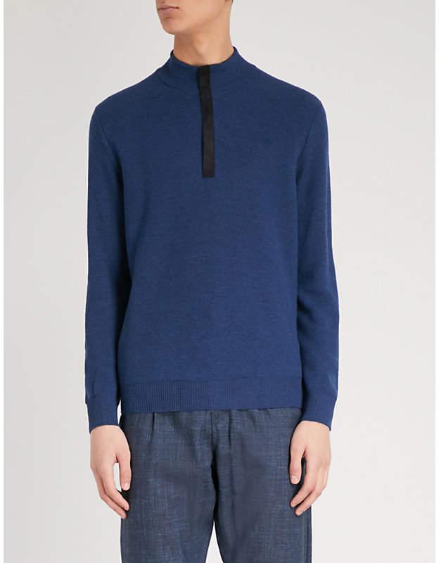 Canali Zipped wool jumper