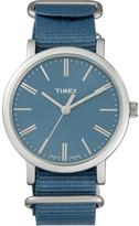 Timex Original Classic 38 Slv Case/Blu Nylon Strap
