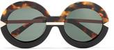 Karen Walker Hollywood Pool round-frame acetate glasses