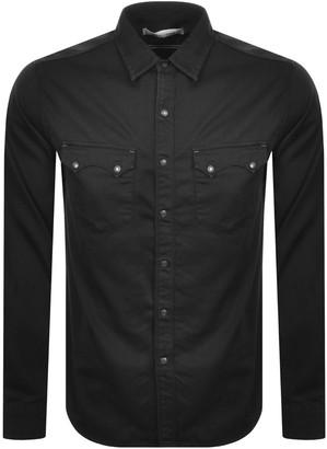 Replay Long Sleeved Sartoriale Denim Shirt Black