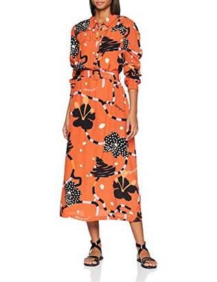 Selected Women's Slfkiara Ls Midi Dress B,(Size: 38)