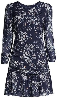 Shoshanna Ann Flounce Mini Dress