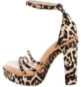 Givenchy Ponyhair Platform Sandals