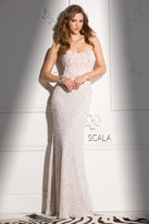 Scala 48680 Sweetheart Prom Dress with Crystal Embellishments