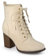 Journee Collection Women's Baylor Stacked Heel Lace Up Booties