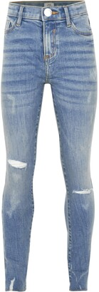 River Island Girls Blue Amelie ripped skinny fit jeans
