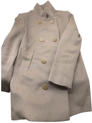 Blumarine Beige Wool Coat for Women