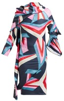 Matty Bovan - Structural Printed Dress - Womens - Blue Multi
