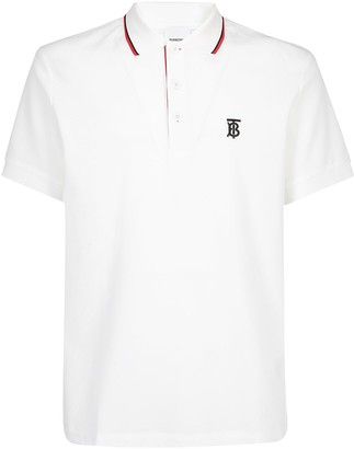 Burberry Embroidered Logo Polo Shirt