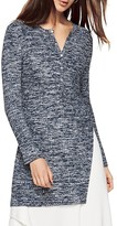 BCBGMAXAZRIA Constance Space-Dyed Henley Tunic