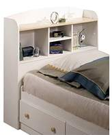 South Shore Furniture South Shore Furniture, Summertime Collection, Bookcase Headboard 39-Inch, Pure white and Natural