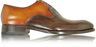 Forzieri Two-Tone Italian Handcrafted Leather Oxford Shoe