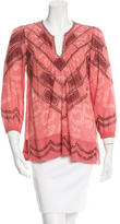 Etoile Isabel Marant Abstract Print Embellished Blouse w/ Tags