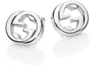 Gucci Interlocking G Sterling Silver Stud Earrings