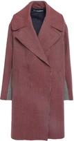 Stella McCartney Two-tone Houndstooth Wool Coat