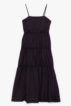 Nasty Gal Womens It'll End in Tiers Plus Maxi Dress - Black