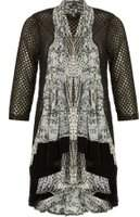 Dorothy Perkins Womens *Izabel London Black Printed Cardigan- Black